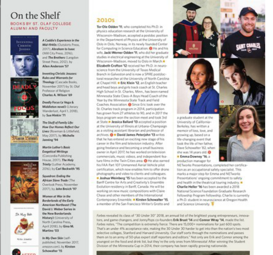 St. Olaf Magazine Feature